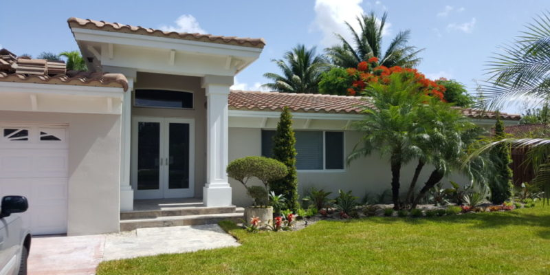 Intersol LLC – Complete Remodeling and Front Entry Addition of a 2,000 s.f. Living Area Home including New Kitchen, Flooring, Two Baths, Landscaping and New Roof 7261 SW 11th Street, Plantation, FL 2016