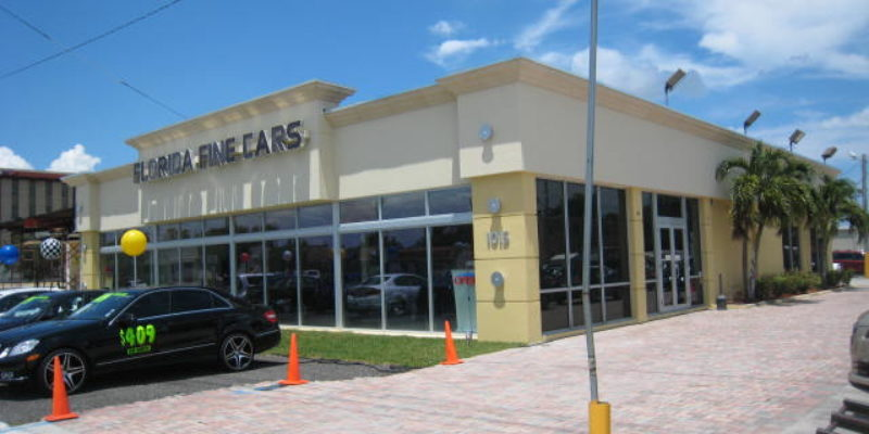Florida fine cars . Hollywood florida Cut and remove front portion of existing building for widening the road and rebuilt 2013