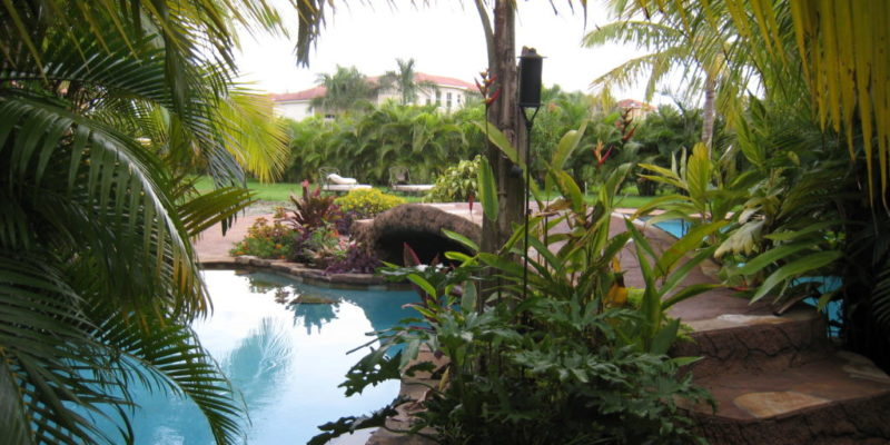 Additions , interior remodeling , site work , new pool and entertainment area for mr. and mrs. Triana plantation acres florida . design and construction started 1995 and continued to 2008 .