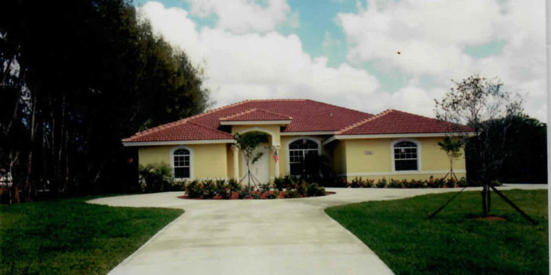 Design and construction of one storyt residence for mr. and mrs. Ameller 2200 s.f. living parkland florida 2001