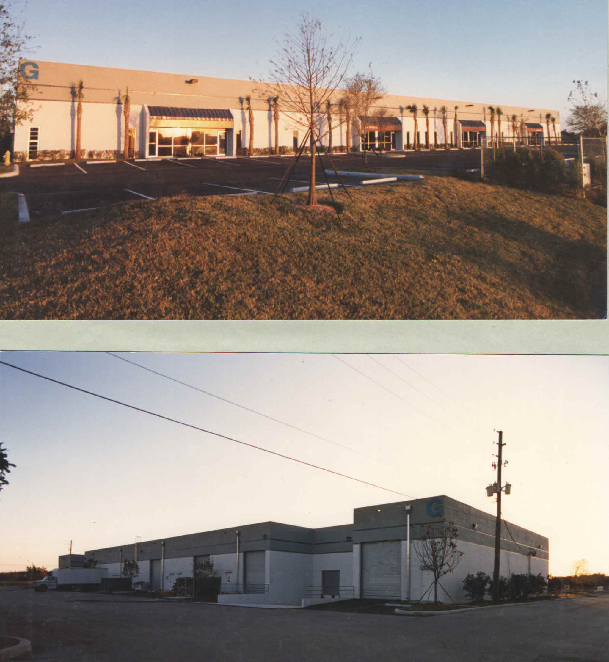 Construction of 30,000 s.f. storefront warehouses . coconut creek Florida 1996