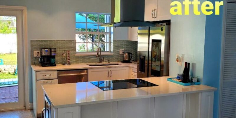 small kitchen and bath remodeling before and after ,fort lauderdale Florida 2021